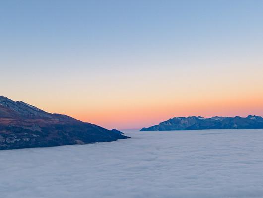 Das Nebelmeer über dem Rheintal