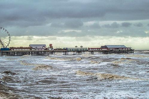 Blackpool Promenade - Rough Seas