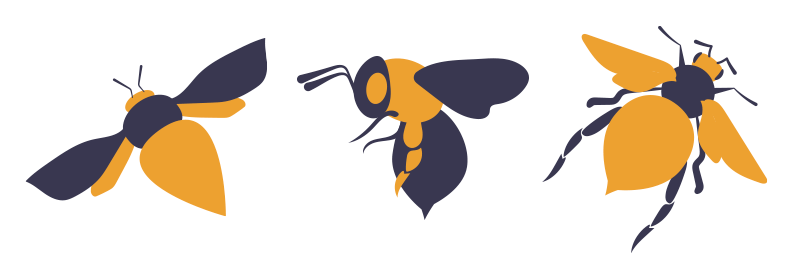 Opposite Color Bees