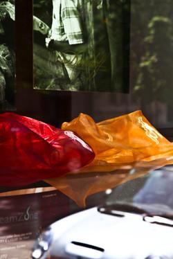 Red Orange Bags
