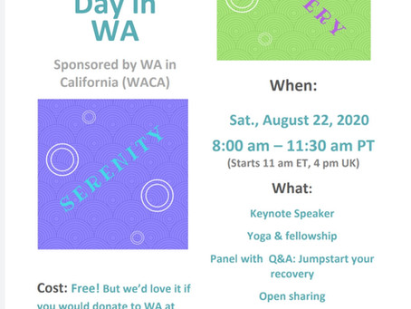 California conference WA Day August 2020