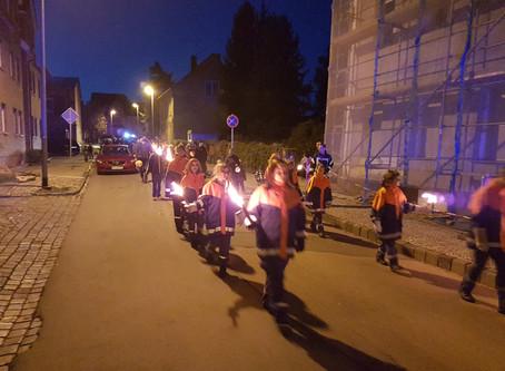 Halloweenfeier bei der Feuerwehr Helfta