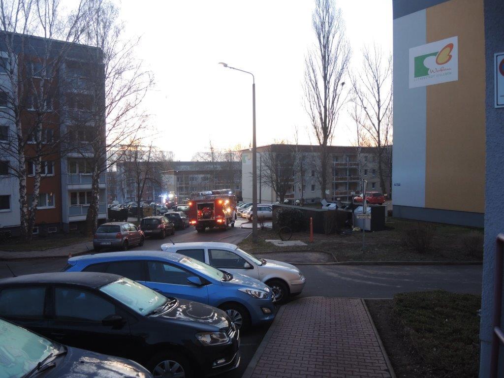 Containerbrand - Foto: Polizei