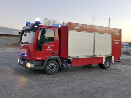 Einsatz 005/2020 - Brand von Abfällen auf Werksgelände für Abfallrecycling und -verwertung