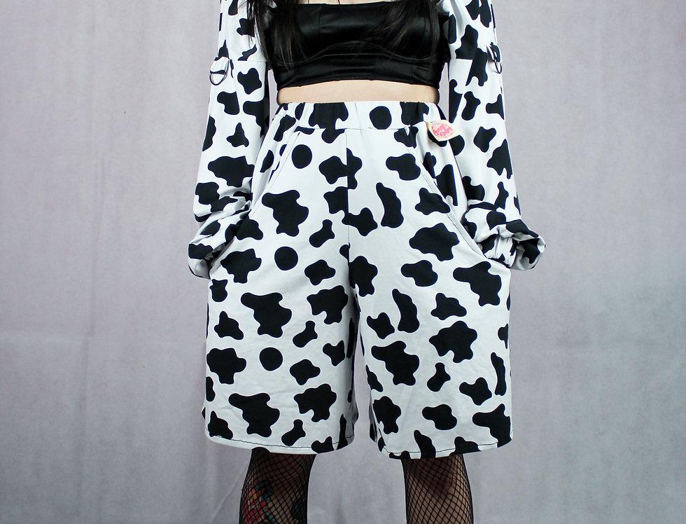 Wide Leg Cow Shorts