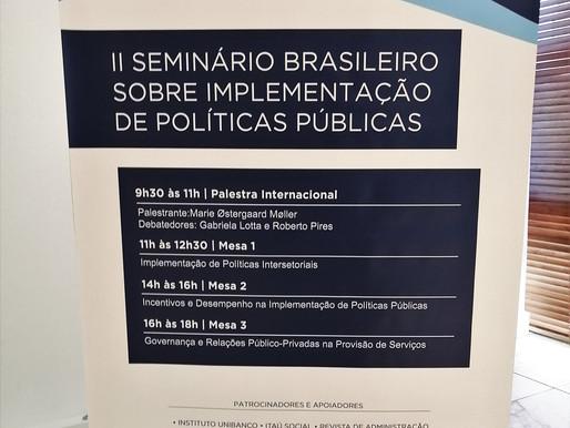 II Seminário Brasileiro sobre Implementação de Políticas Públicas