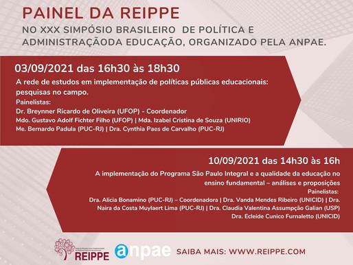 REIPPE no XXX Simpósio Brasileiro de Política e Administração da Educação, organizado pela Anpae.