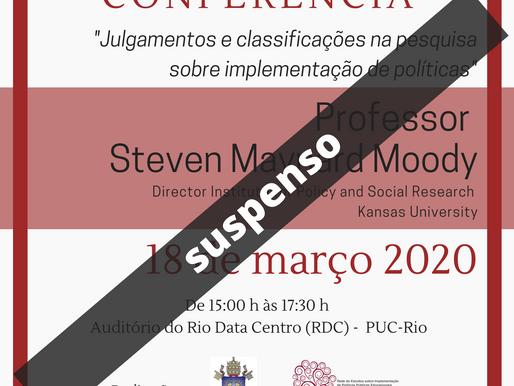Dica de Evento: Conferência com o Professor Steven Maynard Moody