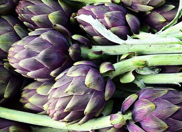 Artichaut violet - la pièce