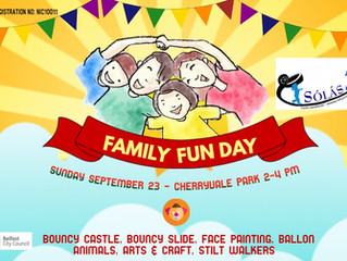 Annual fun day event 23rd September 2018