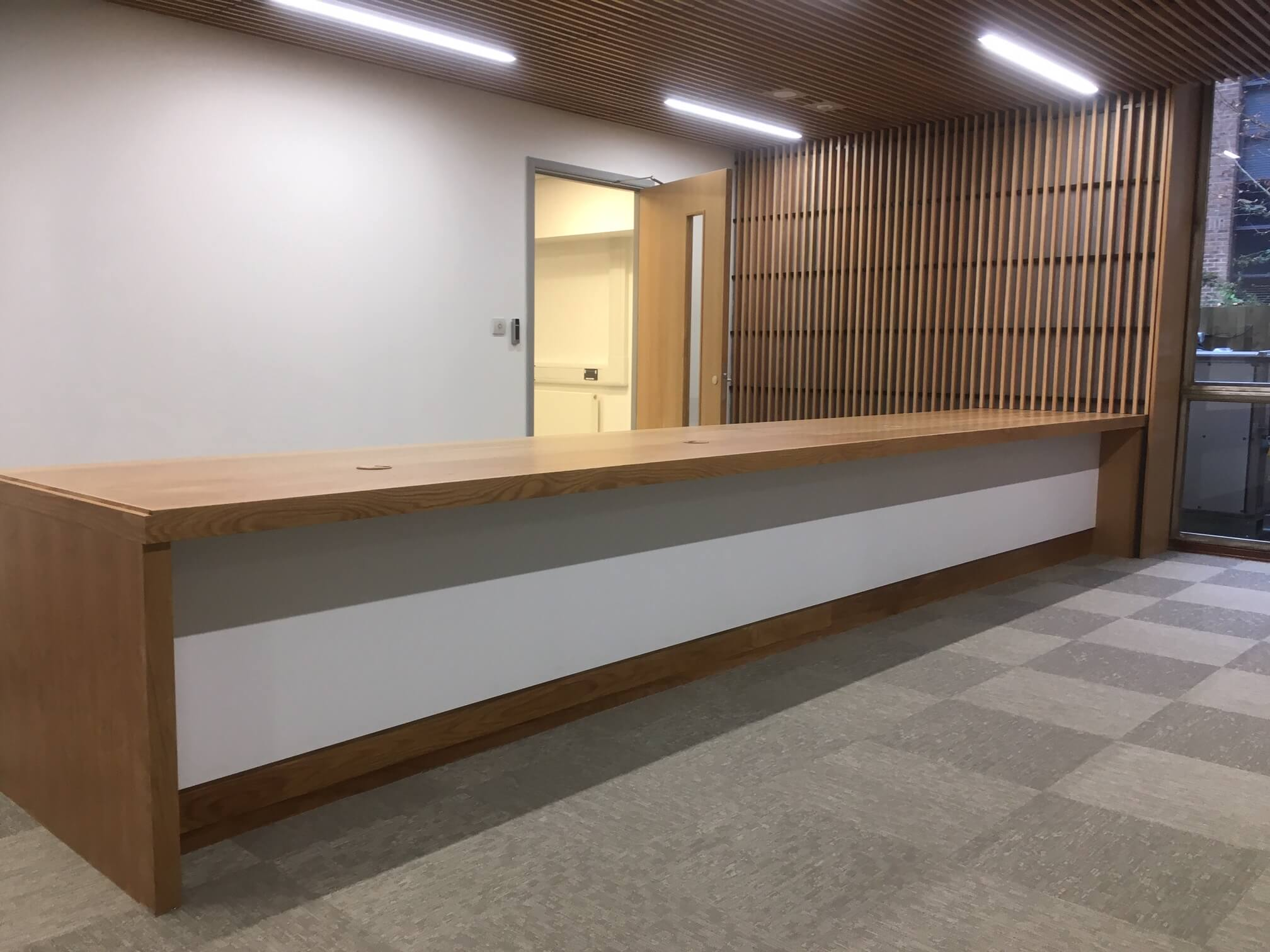 Reading University Reception Desk