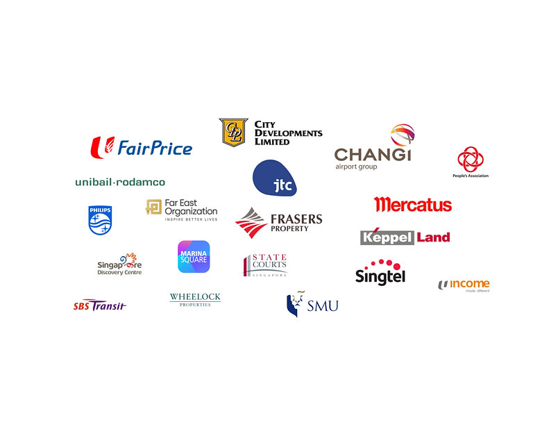Clients capitaland, frasers, far east, city development, changi airport, jtc