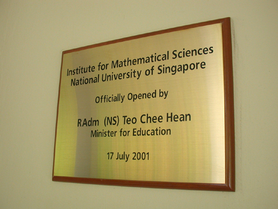 Institute for Mathematical Sciences