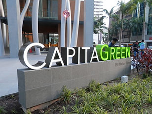 CapitaGreen Landmark Sign  by Ultimate Display System