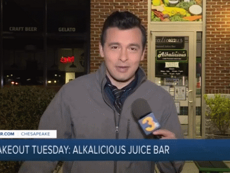 WTKR News3 Features Alkalicious Juice Bar & Grill of Chesapeake for Takeout Tuesday!