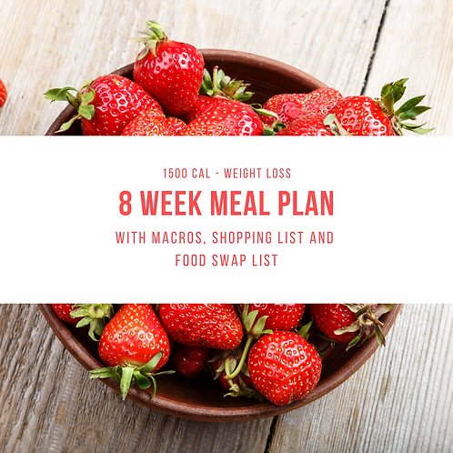 8 Week Meal Plan - 1500 Cal