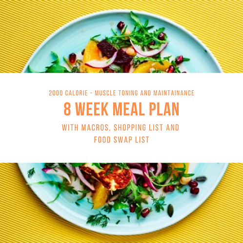 8 Week Meal Plan -1800-2200 Cal