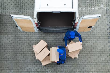 Picking up customer shipments