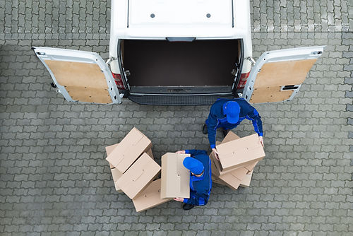 transport vers l'espace de stockage