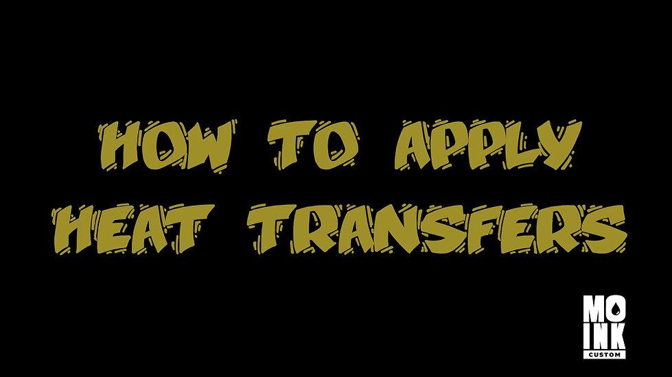 How to apply Heat Transfer
