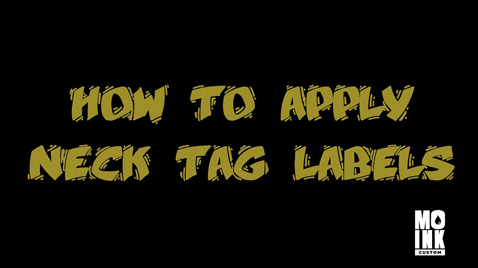 How to apply neck tag labels