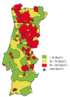 radão em Portugal, medição de radão, mitigação de radão, radão, cancro do pulmão