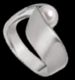 M&M-schmuck-Perle-silber-matt-breiter-Ri