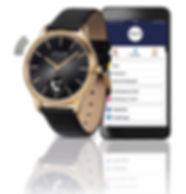 M&M Smartwatch Unisex 38mm Edelstahl vergoldet mit M&M-Smartwatch-App