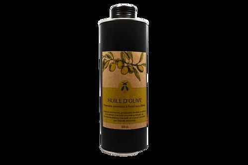 Huile d'olive vierge extra non filtré