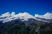Mountain of Elbrus. View from Cheget. Ca
