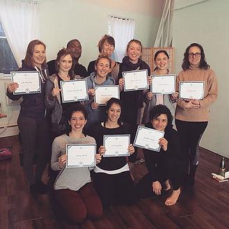 Yoga Teacher Graduation Certificates