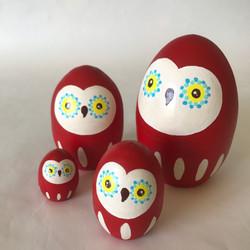 たまご型 red owl