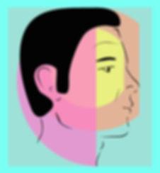 dessin vectoriel visage