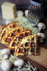 Mushroom Swiss Waffle
