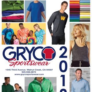 Gryco Sportswear Catalog Cover 2018