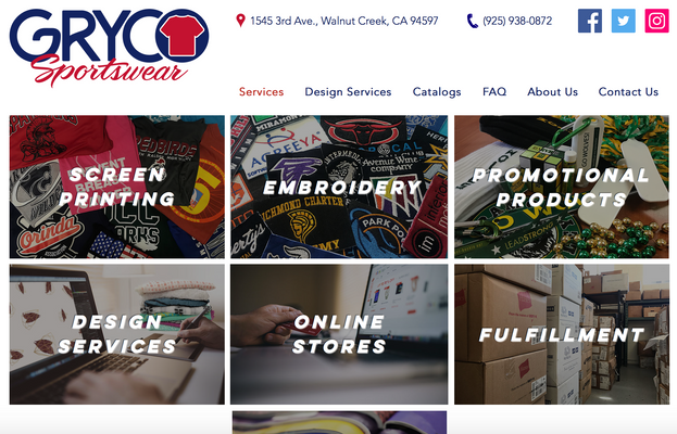 Gryco Sportswear Website