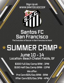 Santos FC SF Summer Camp Flyer