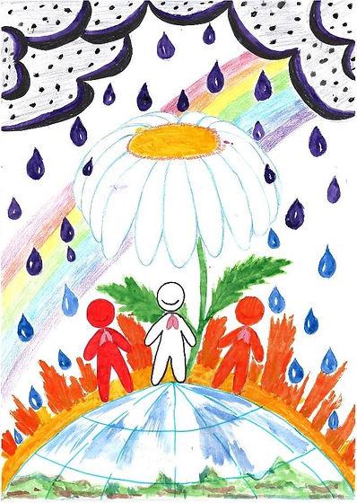 Рисунок, представленный Альмирой, 6 лет.
