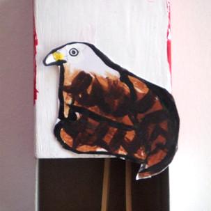 Oiseaux en boîtes d'allumettes
