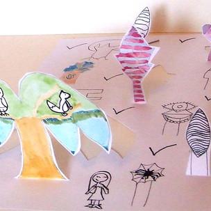 Sculptures en papier, la forêt