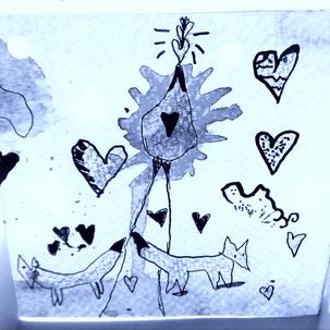 Sculptures en papier, balade du renard