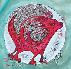 Lune et dragonne