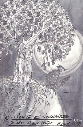 Songe lunaire d'un renard roux