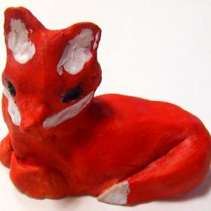 Sculptures, renards