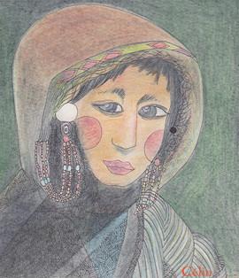 Femme du Tibet