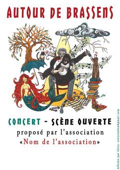 Hommage à Georges Brassens, affiche