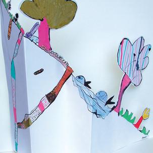Sculptures en papier, paysages