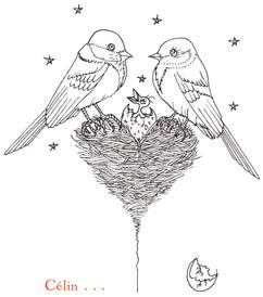 Faire-part de mariage, illustration de l'enveloppe