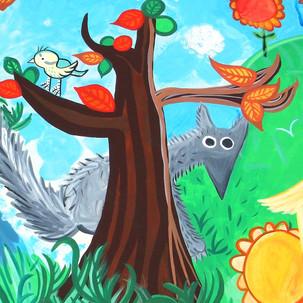 Fresque pour l'école maternelle de Vouillé (86190)