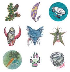 Illustrations pour des badges